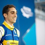 Sebastien Buemi soaks up the atmosphere after his season-opening victory