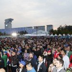 The crowds gather to witness to first Formula E podium of season two