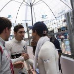 Buemi wishes da Costa and Duval luck on the grid before the race