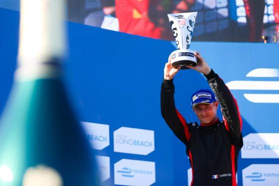 Sarrazin scores maiden podium