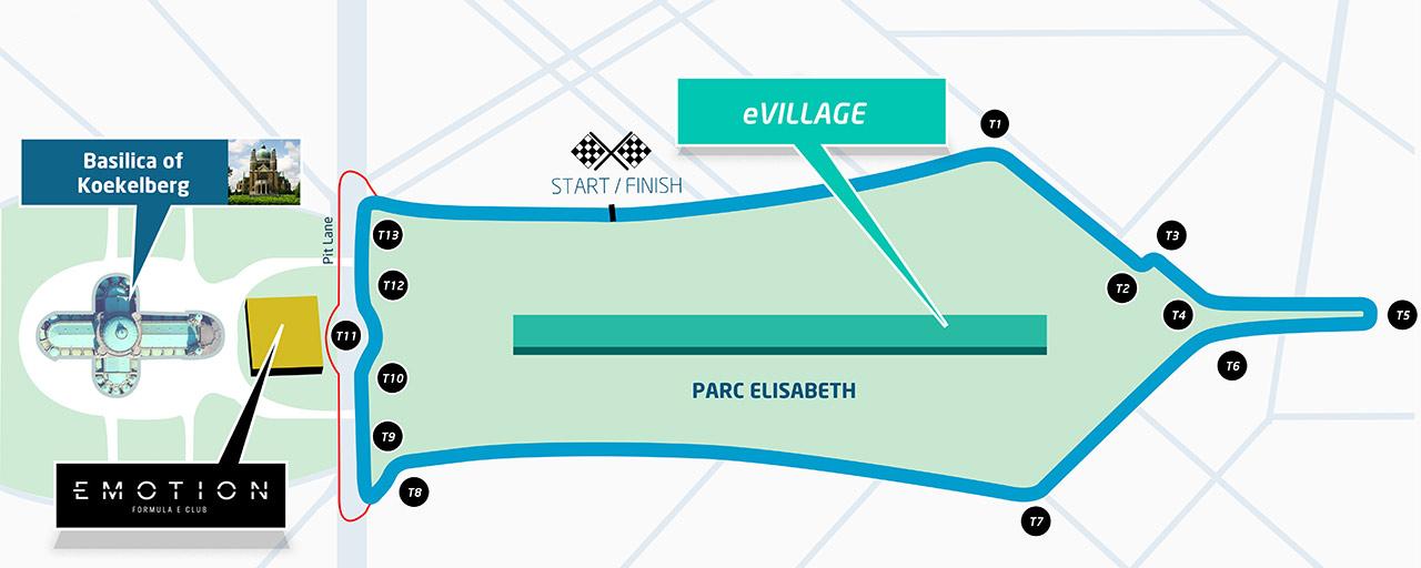 The proposed Brussels ePrix track in Koekelberg