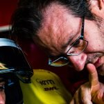 Franco Chiocchetti of ABT Schaeffler Audi Sport in talks with Lucas di Grassi
