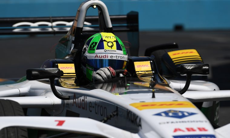 Nevermind the bollards: di Grassi on provisional pole position