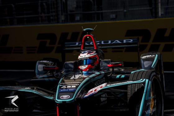 Evans celebrates his first ever pole-position in Zurich