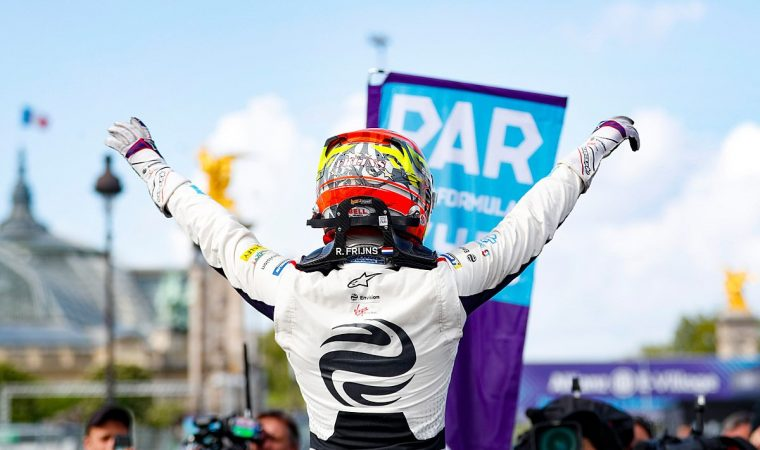 Frijns braves the storm to take maiden victory