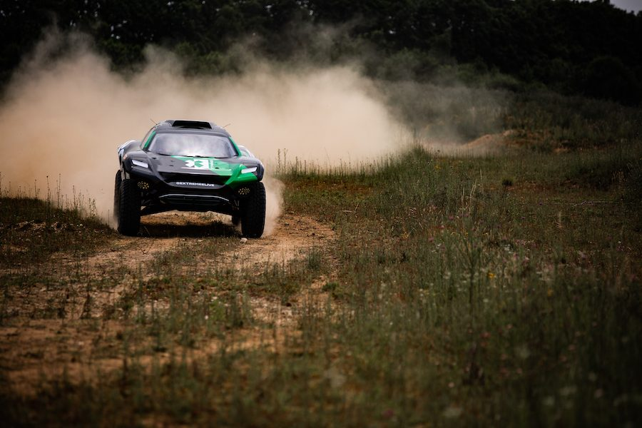 Watch the all-electric Extreme E SUV make its debut at Goodwood