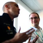 Nissan Global Motorsport Director Michael Carcamo and Shell E-Fluids expert and Motorsport Coordinator Chris Dobrowolski at pre-season testing in Valencia. (Photo: Spacesuit Media/Shivraj Gohil)